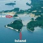 カナダの小島